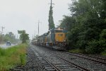 SA-3 returns to Browns Yard with 3 locomotives & coil cars